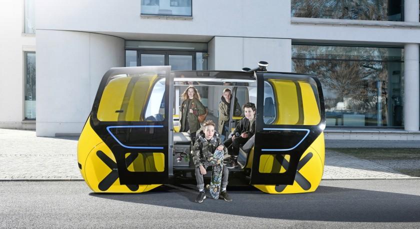 VW SECDRIC autonomous school bus concept Image credit: Volkswagen AG